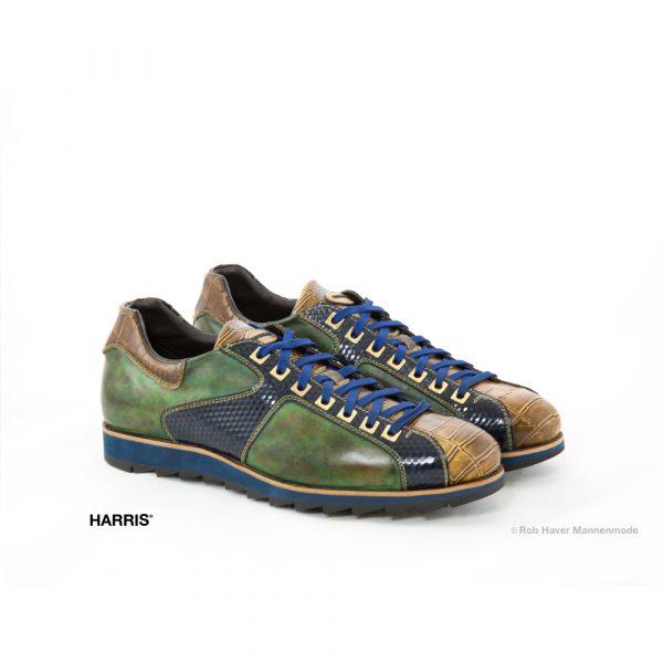 Harris groen blauwe rundleren schoen