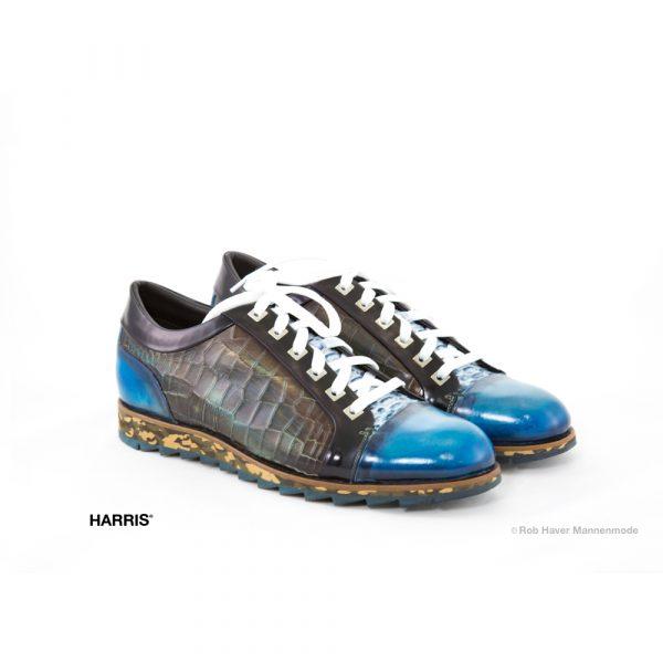 Harris Blauw multicolor rund/slang leren schoen