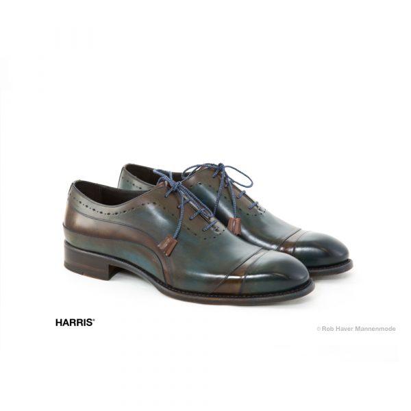 Harris bruin groene rund leren schoen