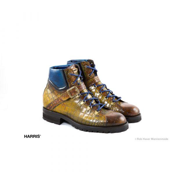 Harris bruin gelen hoge rundleren schoen