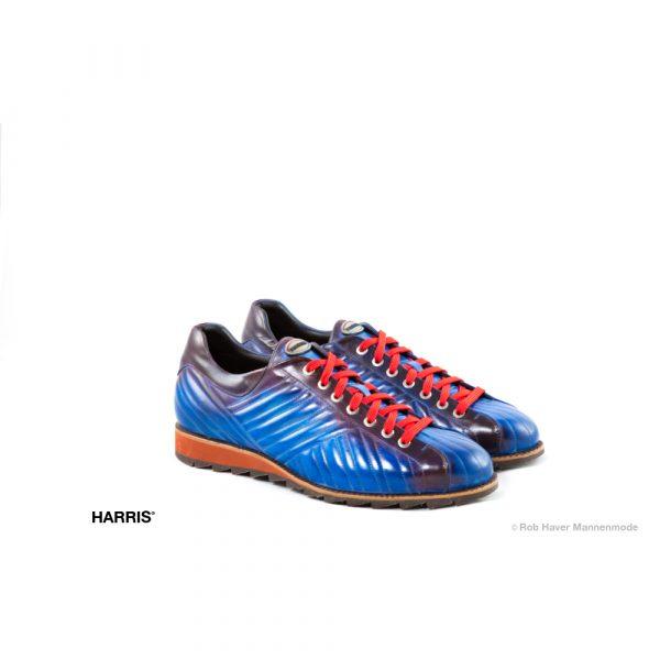 Harris blauw paarse rundleren schoen