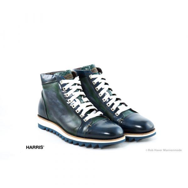 Harris groen en blauwe rundleren schoen