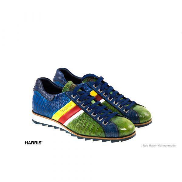 Harris Rundleren groen, blauwe schoen