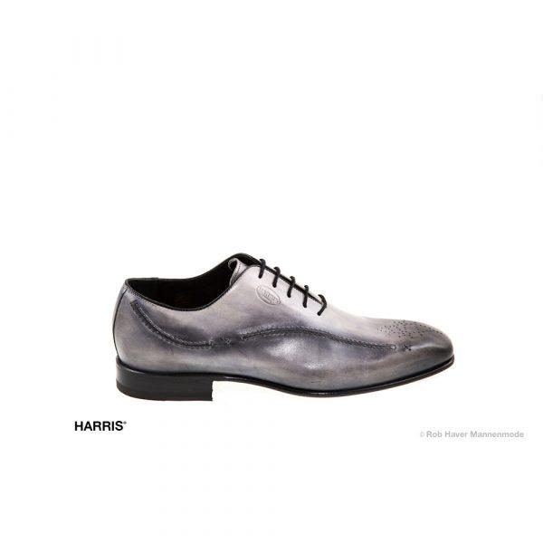 grijze, zwarte rund leren Harris schoen