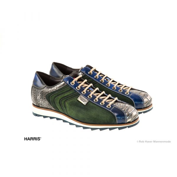 Harris sneakers groen-suède-metal